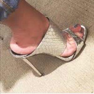 16489a4d6870f Giuseppe Zanotti Shoes - NWT Giuseppe Zanotti Andrea Silver Snake Sandals